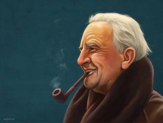 J.R.R.Tolkien portrait by RUGIDOart