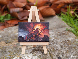 Mount Doom minipainting by RUGIDOart
