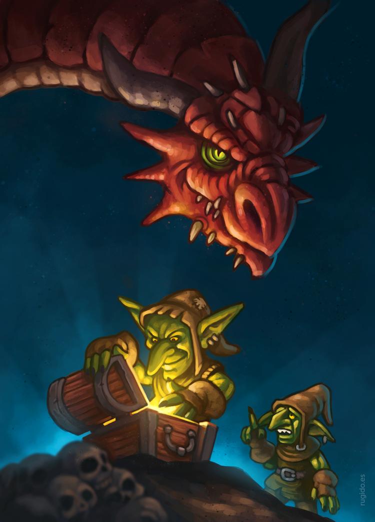 Goblin treasure hunters by RUGIDOart