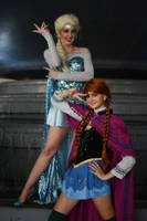 Sailor Anna and Sailor Elsa by ReaganKathryn