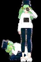 MMD : DONUT HOLE MIKU DL by AuroraYok