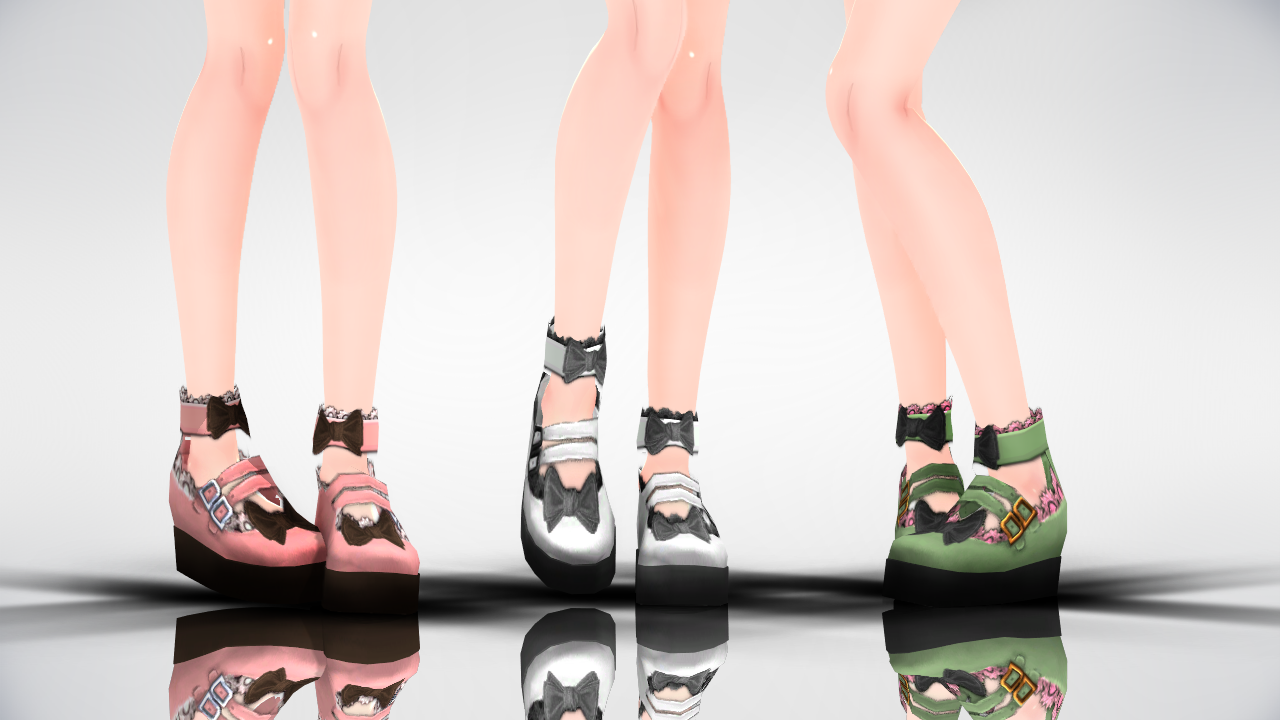 MMD Lolita platform shoes DL by AuroraYok