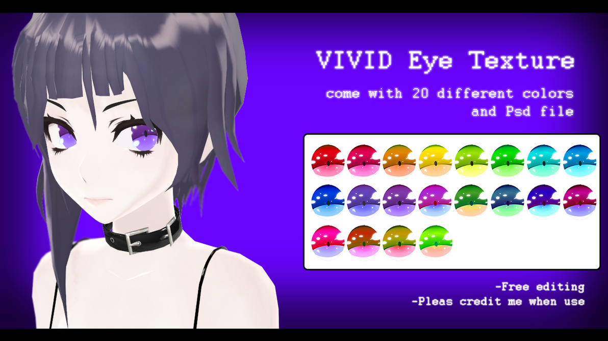 -MMD- VIVID eye texture DL by AuroraYok