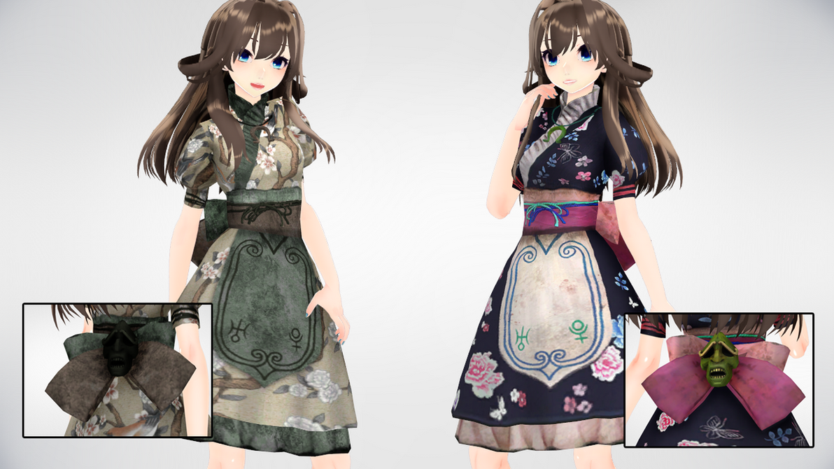 MMD AMR OrientalDress DL by AuroraYok