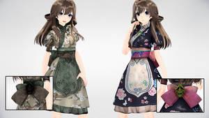 MMD AMR OrientalDress DL by AuroraYok
