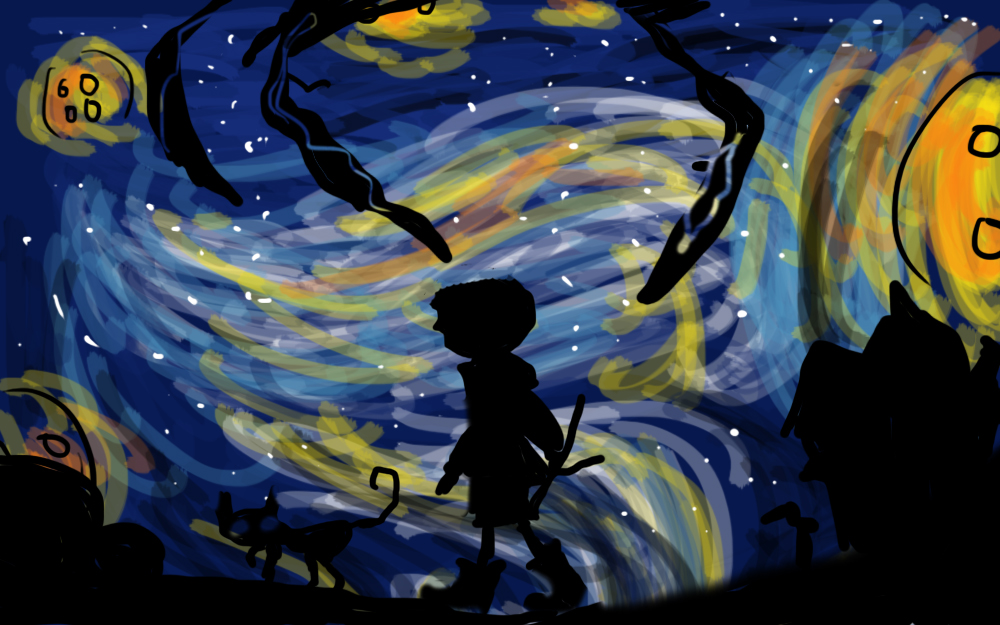 Coraline Starry Night By Danielaurista On Deviantart