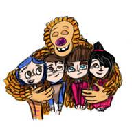 LAIKA group hug by danielaurista