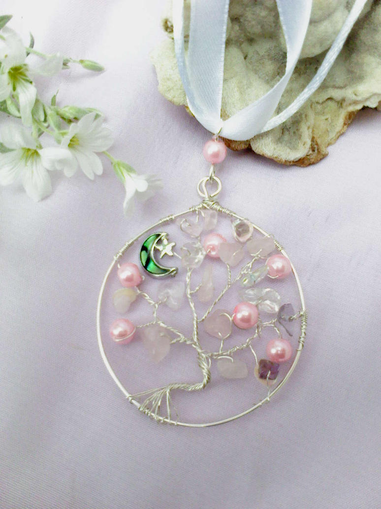 Tree pendant with moon by Mirtus63