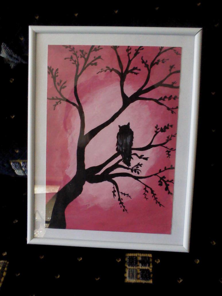 Owl painting by Mirtus63