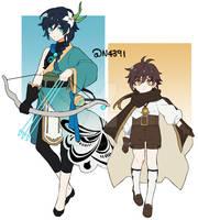 Genshin Archon Swap AU