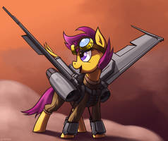 Supersonic Scootaloo by DimFann