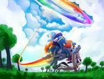 Sonic Rainboom by DimFann
