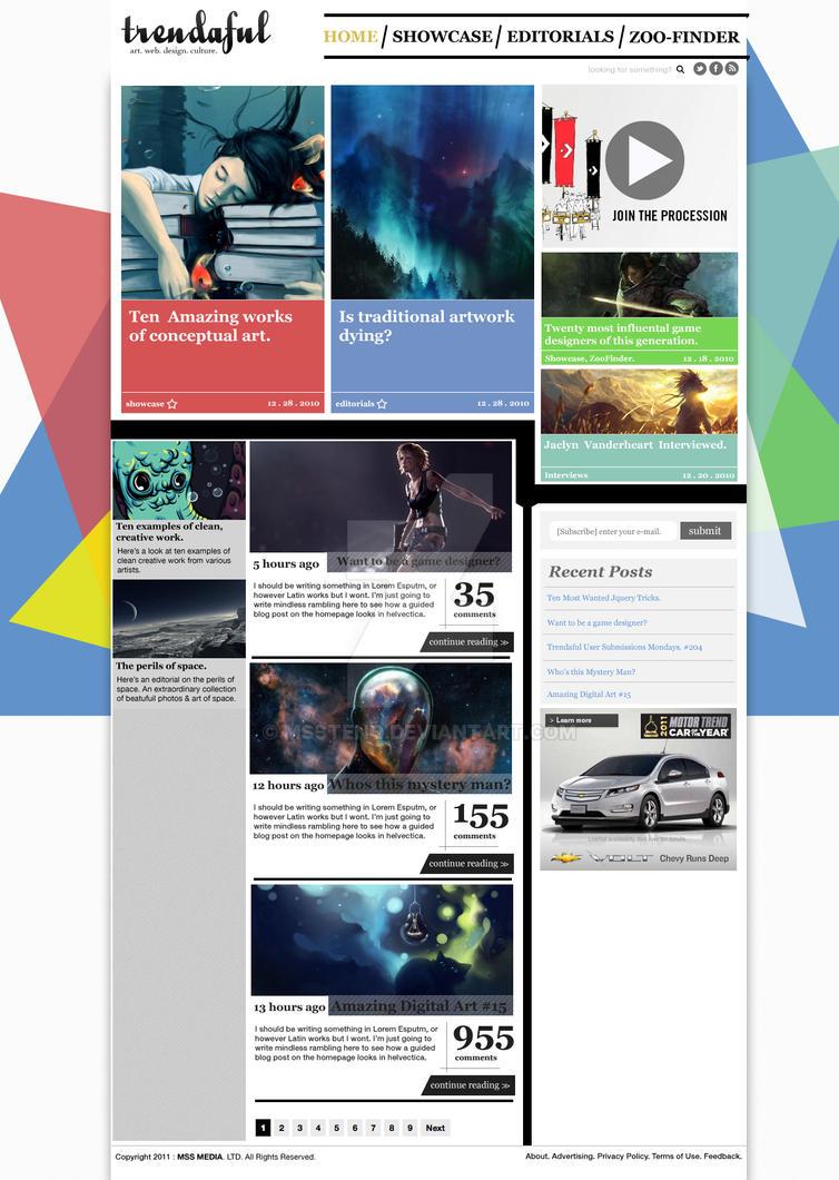 Art magazine website design by msstenq on deviantart for Best designed magazine websites
