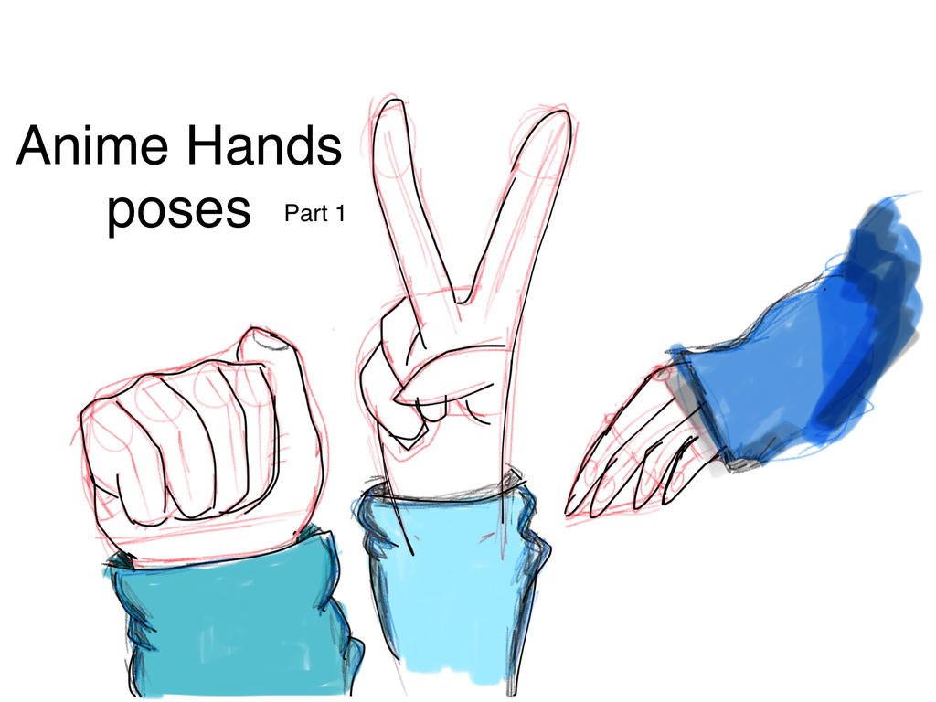 Anime Hand Poses Part One By Justs0me On Deviantart