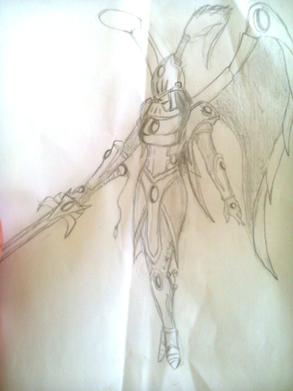 Kayle legendary skin with medieval helm by martius2521