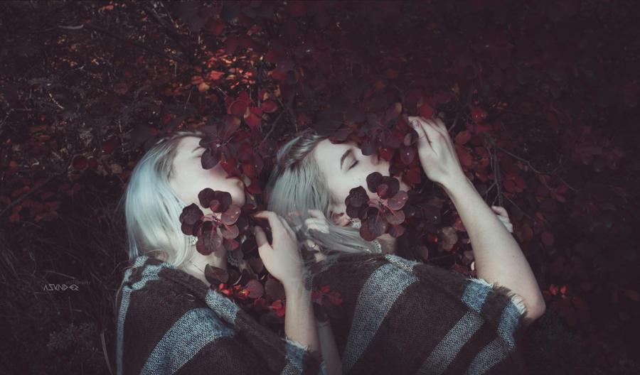 kissing autumn by KatyTwist