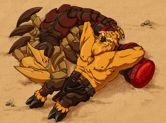 Sandking and Earthshaker Commission by halmtier