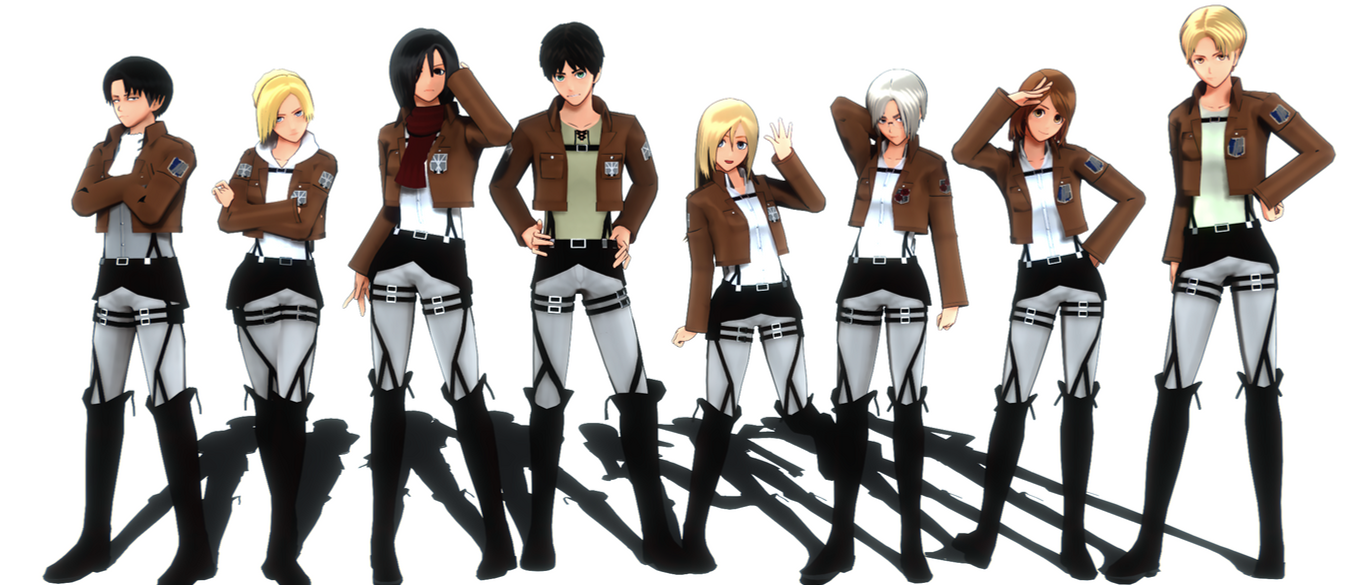Attack on Titan MMD model by nerudrum