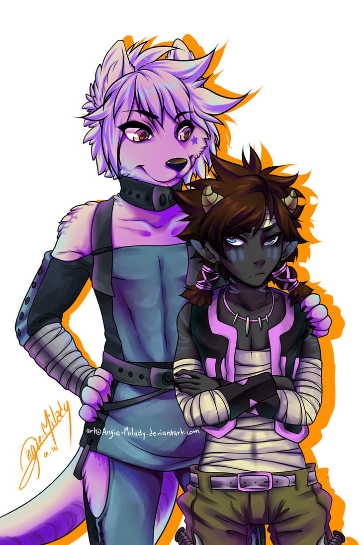 Ikari And Saru by nekochained