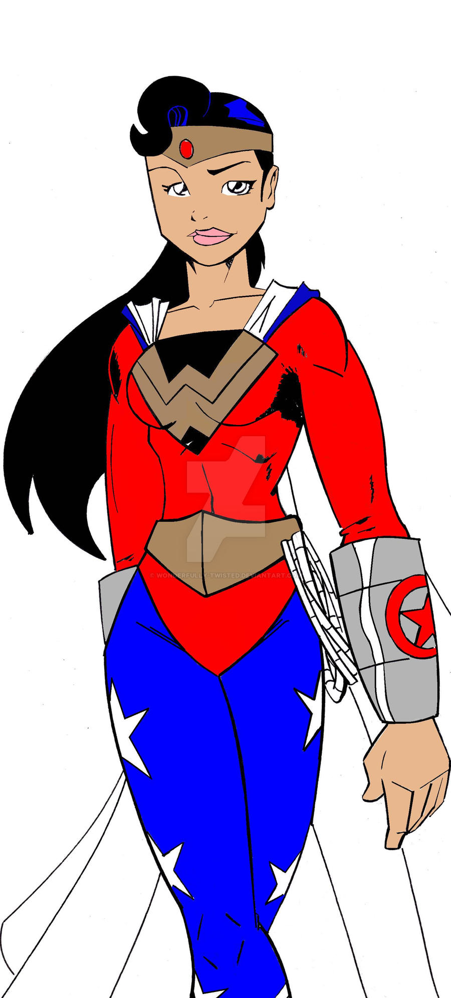 Superman wonderwoman daughter by wonderfully twisted on - Superman wonder woman cartoon ...