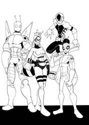 Bug Heroes by wonderfully-twisted