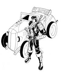 Samurai and his Hotrod by wonderfully-twisted