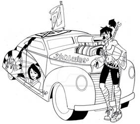 Samurai and Her Hotrod by wonderfully-twisted