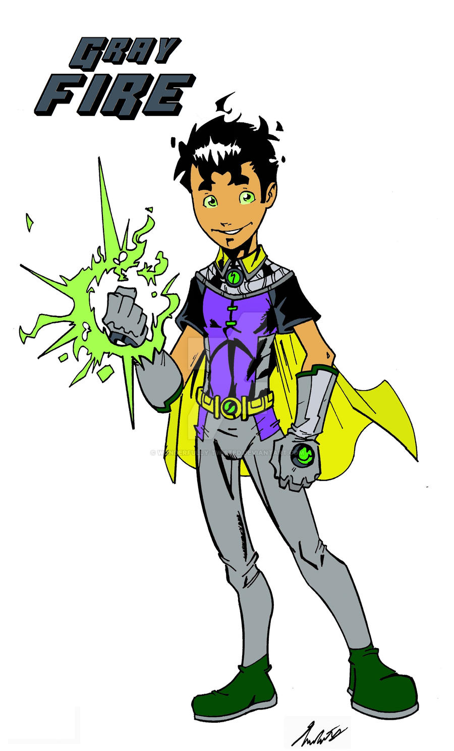 Gray Fire: son of Robin and Starfire by wonderfully-twisted