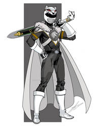 The White Wolf a Game of Thrones Power Ranger by wonderfully-twisted