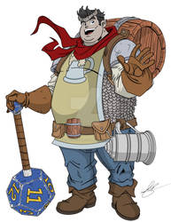 Waffles The Cleric of Cayden Cailean