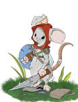 Beans the warrior mouse by wonderfully-twisted
