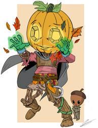 Gordo the Leshy Druid and Elmer by wonderfully-twisted