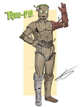 Tree-P.O. the wooden Warforged  fanart