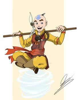 Avatar Aang and Momo