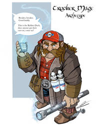 Trucker Mage Archetype critical role fan art by wonderfully-twisted