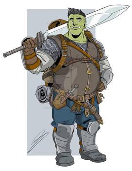 Gorgu Half Orc fighter