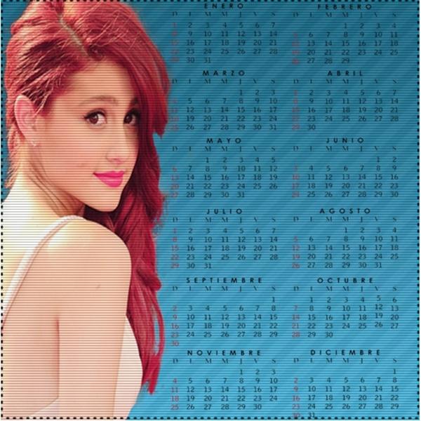 Calendario Grande.Calendario De Ariana Grande By Marieswag On Deviantart