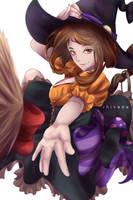 Boku no Hero Academia Halloween - Uraraka Witch by RhIVenX