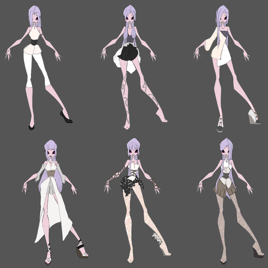 Character Design Kit : Com ashlyn full character design set by niakoks on