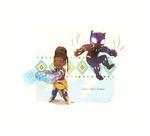 Shuri and Black Panther