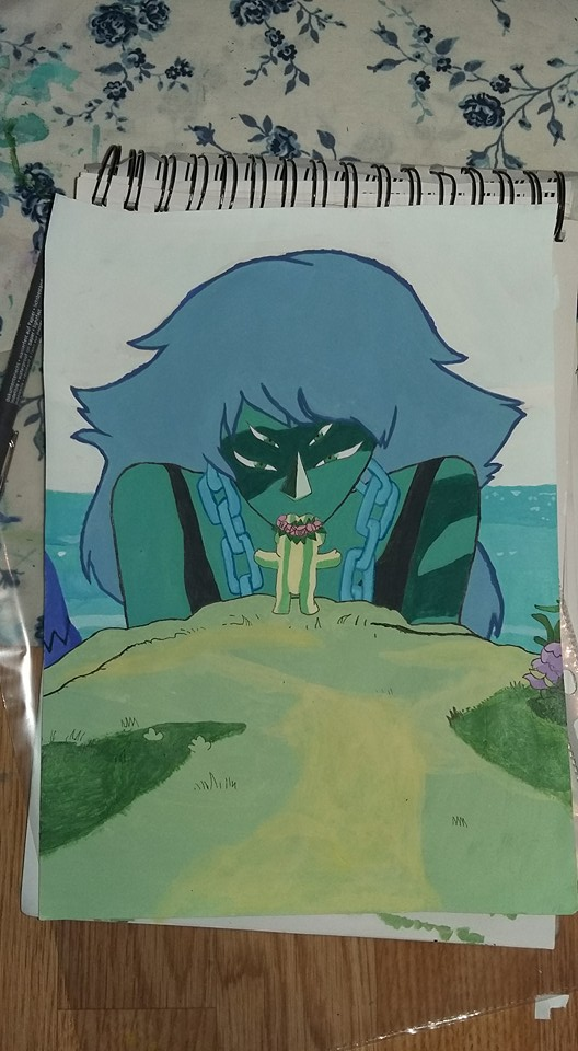 Watermelon island Steven Universe painting by eha1027