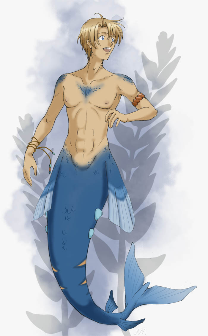 Merman Alfred by ScarletteDiscord