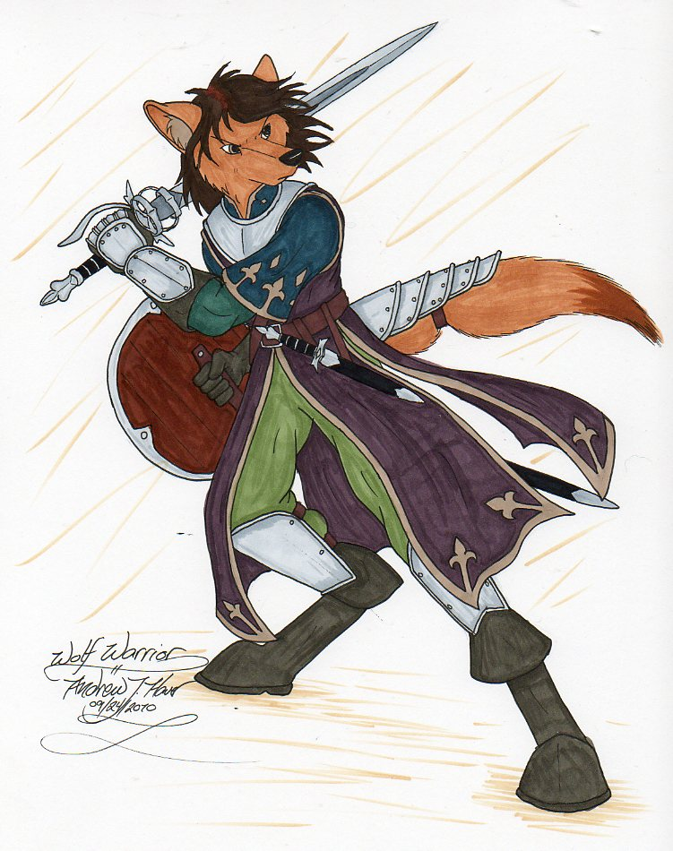 Wolf Anthro Warrior Wolf Warrior 3 by Lordfenrir