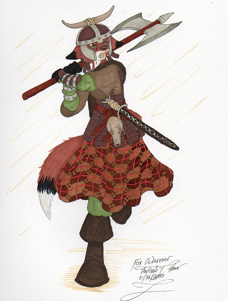 Fox Warrior by LordFenrir on DeviantArt