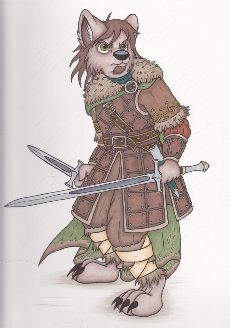 Wolf Anthro Warrior Wolf Warrior by Lordfenrir
