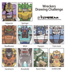 wreckers drawing challenge by kishimenn