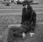 barefoot... on a rock XD