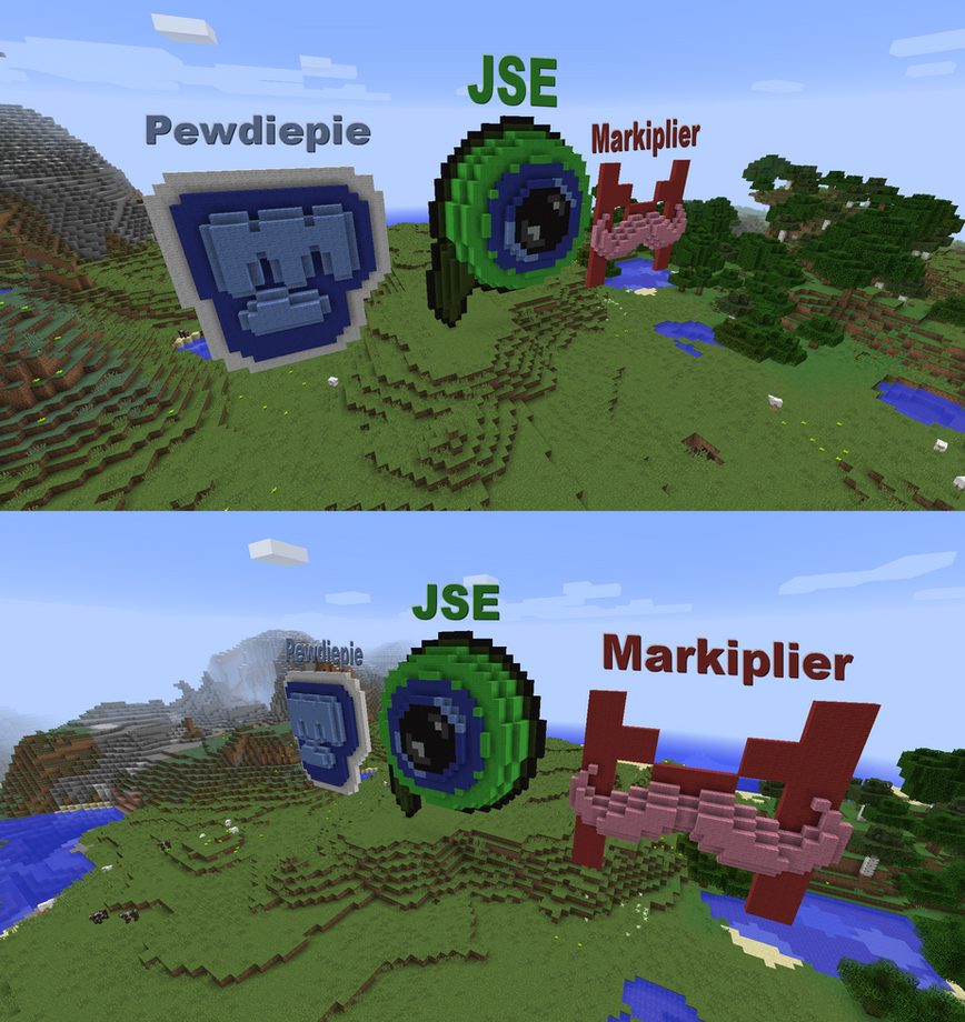 youtuber logos in minecraft by paintyheart on deviantart