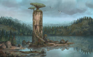 Forest Tower by jlewenhagen