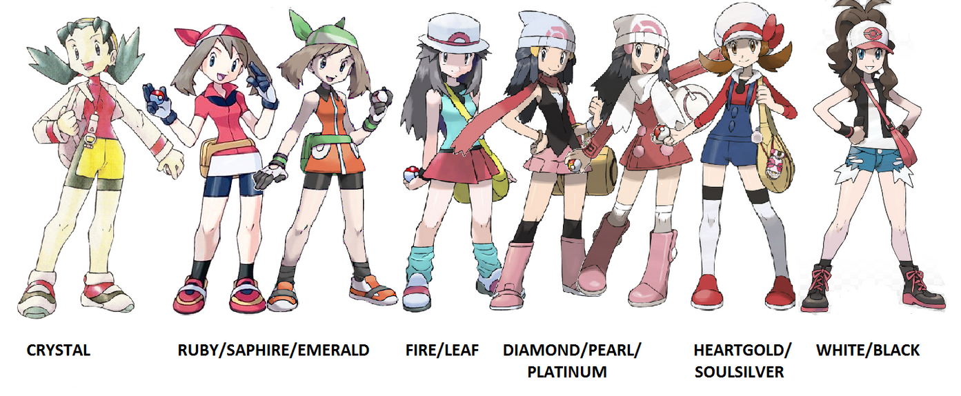 Female Trainers Of Pokemon V2 By Teamr On Deviantart